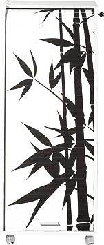 Simmob ORGA110BLB912 bambù, 912-Mobile da ufficio con ruote, Tenda, motivo: legno, 47 x 47,2 x 107,6 cm