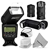 Essential Flash Kit for CANON Rebel T5i T4i T3i T3 T2i T1i SL1, EOS 700D 650D 600D 1100D 550D 500D 100D DSLR Cameras, Canon EOS M Compact Cameras - Includes: Altura Photo E-TTL Auto-Focus Dedicated Flash + Wireless Camera Flash Trigger and Camera Remote Control Function + Cable-C Cord for Remote Control + Protective Pouch + Hard Flash Diffuser + Soft Flash Diffusers + MagicFiber Microfiber Cleaning Cloth
