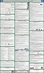 2016 Minnesota State and Federal Labor Law Poster - Laminated 24\