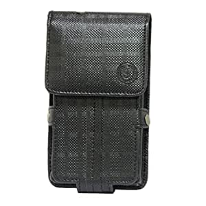 Jo Jo A6 D4 Series Leather Pouch Holster Case For Spice M 5005 Black