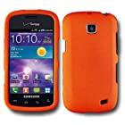 SOGA(TM) For Samsung Galaxy Proclaim 720C SCH-S720C / illusion i110 (Straight Talk) / (Verizon) Rubberized Snap-on Case Hard Phone Cover - Orange [SWB143]