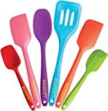 Lucentee 6-Piece Silicone Baking Set - Spatulas, Spoons & Turner - Heat Resistant Cooking Utensils