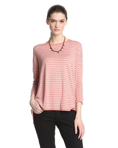 Kokun Women's Cashmere Blend Striped Pullover