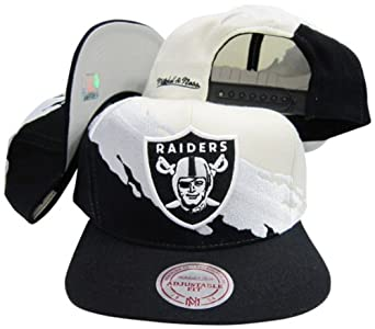 Oakland Raiders Snapback Adjustable Plastic Snap Mitchell & Ness Hat Cap by Mitchell & Ness