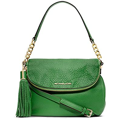 Michael Kors Weston Convertible Shoulder Bag in Palm Green Pebbled Leather