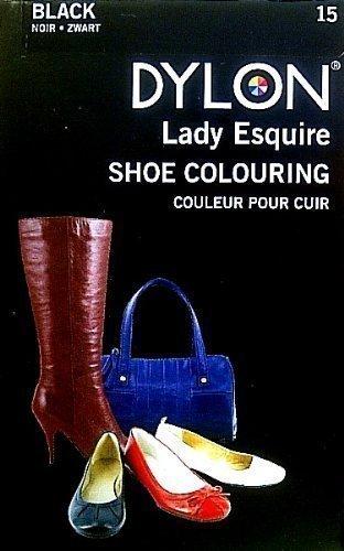 Dylon 15 - Tintura per colorare scarpe, stivali borsette, confezione da 20 ml, colore sintetico, impermeabile
