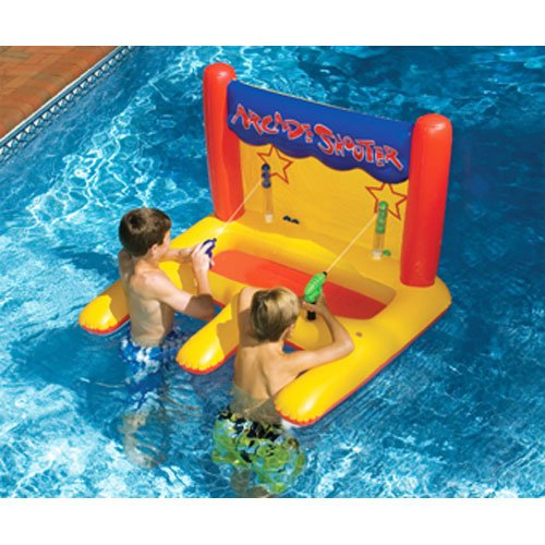 New Heavy Pvc Inflatable Swimming Pool Arcade Game 3 Water Guns Toy Gun Shooter Ebay