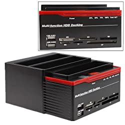 AGPtek® High Speed 3 Slots (2 SATA 1 IDE) Triple HDD Docking Station Clone 2.5