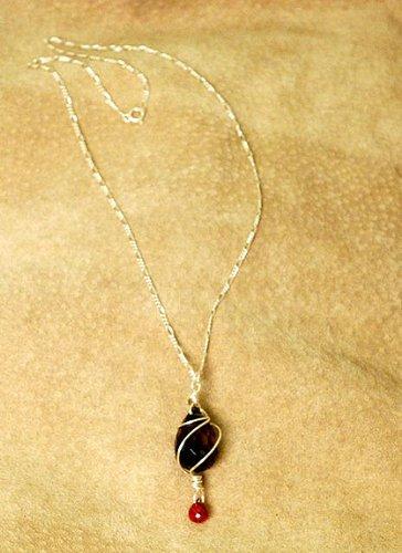 Smoky Quartz And Garnet Necklace