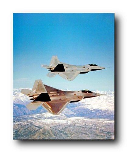 F-22 Raptor Airforce Jet Plane Aviation Art Print Poster (16x20)