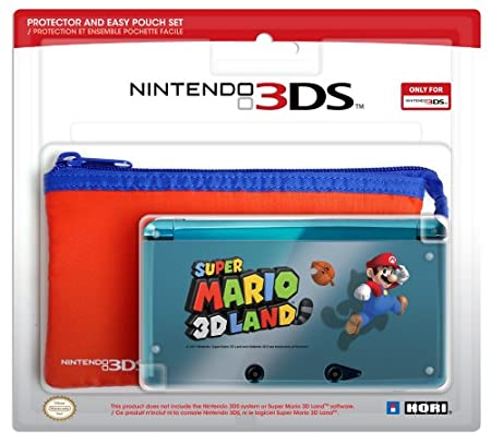 3DS Protector and Pouch Set (Super Mario 3D Land version)