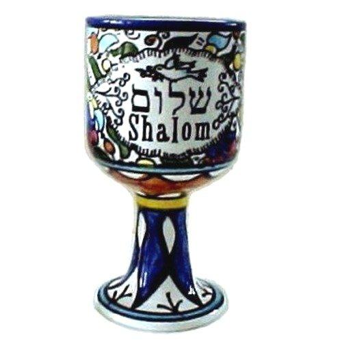 Tierra santa mercado alechem/de la paloma de la Paz con vino de cerámica armenios onestopdiy/Copa Meduim 13,21 cm o 13 cm