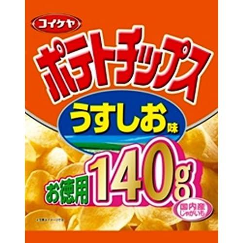 湖池屋 お徳用ポテトチップスうすしお味 140g×10袋