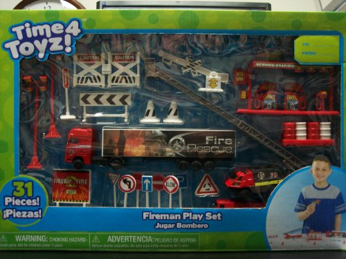Fireman Play Set - Time 4 Toyz - Creative Designs - 1
