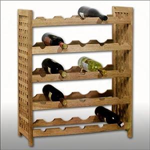 Porta bottiglie vino cantinetta in legno di noce 64 x 25 x - Mobile porta vino ...
