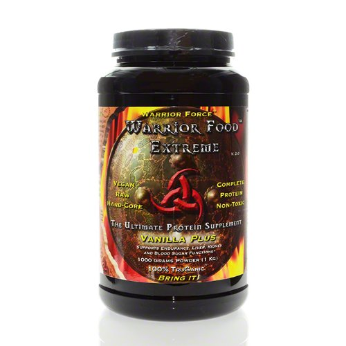 Warrior Food Protein Powder, Vanilla Plus, 1000 Grams - Healthforce Nutritionals