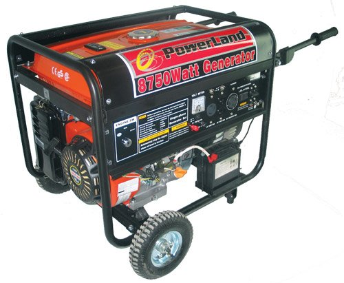 Powerland Pd8500E 8,750 Watt 16 Hp Ohv Gas Powered Portable Generator With Electric Start & Wheel Kit (Carb Compliant)
