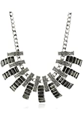 "Jessica Simpson ""The Wright Stuff"" Silver Collar Necklace"