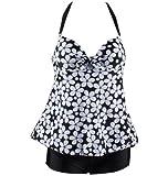 A168® New Padded Halter Neck One Piece Swimsuit Swimwear Tankini / UK 6, 8, 10, 12, 14, 16