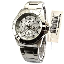 Seiko Silver Dial Chronograph Stainless Steel Mens Watch SRL065