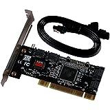 Semlos PCI Sata Internal Ports Raid Controller Card (4-ports) Sil3114 Chipset 013577 with 2 Sata Cables