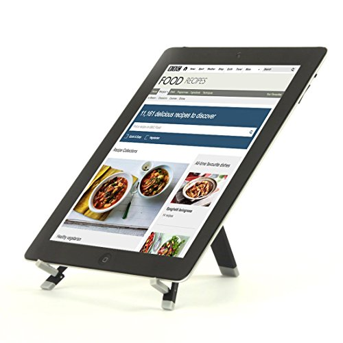 Portable Kitchen Tablet Cookbook Stand for iPads, iPad mini, iPhone, surface, & Other 7-12 inch Tablets (Under Cabinet Mixer Stand compare prices)