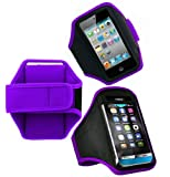 Wayzon Purple Adjustable Sports GYM Jogging Running Riding Bike Cycling Dancing Armband Case Cover Skin Pouch For Blackberry Pearl 3G 9105