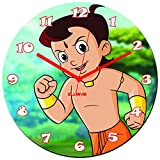Xclusve Designer Chota Bheem Wooden Clock (30.5 X 30.5 X 30.5 Cms)