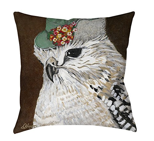 Thumbprintz Square Indoor/Outdoor Pillow, 20-Inch, You Silly Bird Amy front-474618
