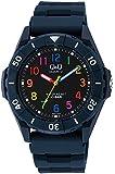 [シチズン キューアンドキュー]CITIZEN Q&Q 腕時計 スポーツウォッチ アナログ表示 10気圧防水 ネイビー×マルチカラー VR58-008 メンズ