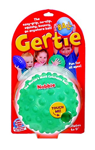 Small World Toys Gertie Ball (Nobbie Gertie Ball - Colors Will Vary) - 1