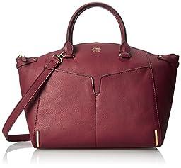 Vince Camuto Asha Satchel Shoulder Bag, Cabernet, One Size