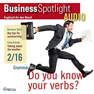 Business Spotlight Audio - Summarizing. 2/2016 Hörbuch