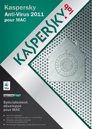 Kaspersky antivirus pour Mac 2011 (1 Mac + 1 PC, 1 an)