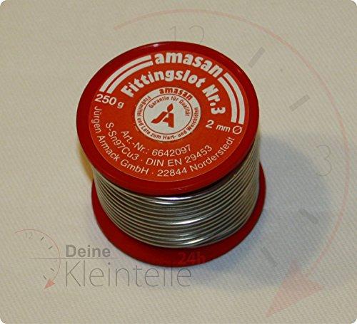 250g 2mm S-Sn97Cu3 Lötzinn Weichlot Fittinglot Kupferrohr Lötdraht Zinn Melt Löt