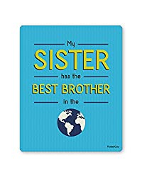 PosterGuy Raksha Bandhan / Rakhi Gift Best Brother in the World Blue Mousepad
