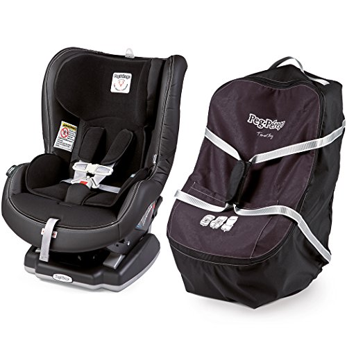 peg perego convertible 5 65 car seat with travel bag licorice black leather food beverages. Black Bedroom Furniture Sets. Home Design Ideas