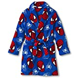 Marvel Spiderman Plush Bath Robe Pajama Boy Size 6