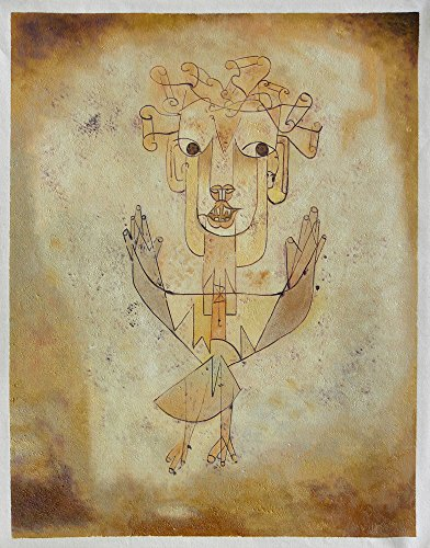 Angelus Novus (The New Angel) - Paul Klee Hand-painted Oil Painting Reproduction (26 X 20 In.) (Paul Klee Angelus Novus compare prices)