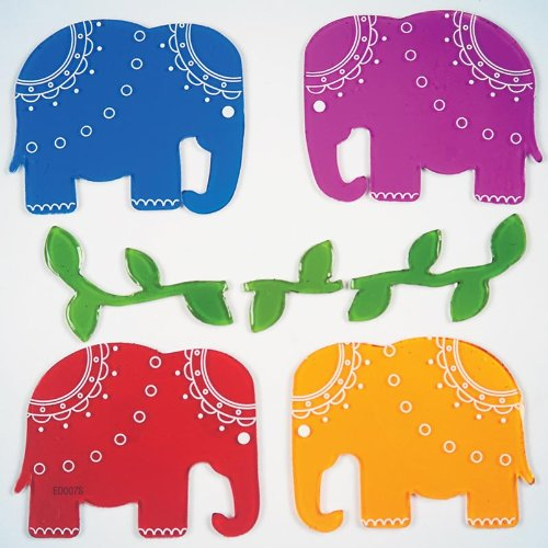 GelGems Elegant Elephants Small Bag Gel Clings - 1