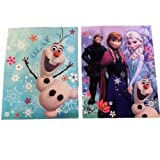 2 Disney Frozen Anna & Elsa and Olaf 2-pocket Portfolio Folder Bundle