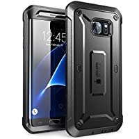 Galaxy S7 Edge Case, SUPCASE Full-body Rugged Holster Case WITHOUT Built-in Screen Protector for Samsung Galaxy S7 Edge (2016 Release), Unicorn Beetle PRO Series - Retail Package (Black/Black) (Electronics)