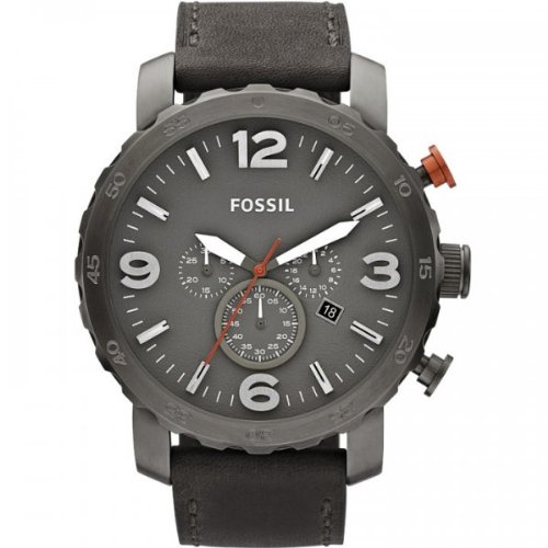 Fossil Men's Quartz Watch Nate JR1419 with Leather Strap