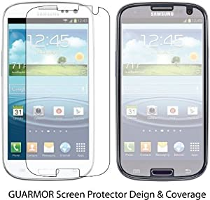 Samsung Galaxy S III 2x S3 GT-i9300 Premium Invisible Clear LCD Screen Protector Cover Guard Shield Protective Film Kit 2 Pieces
