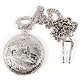 Philip Mercier Train Pocket Watch and Chain, Comes In Gift Boxby Philip Mercier
