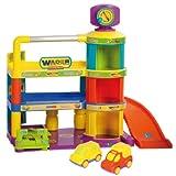 Wader 85100 - Garaje para bebés de 3 plantas con rampa y 2 coches [importado de Alemania]