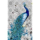 OneHippo 5D DIY Crystals Diamond Painting Rhinestone Painting Pasted Paint By Number Kits Peacock (Head to Right)
