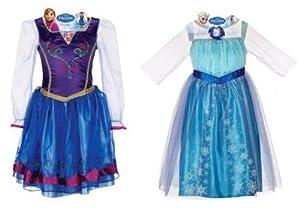 Disney Frozen Elsa and Anna Dress Combo Pack (Size 4-6x)