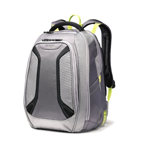 Samsonite Luggage Vizair Laptop Backpack, Gunmetal/Volt Green, 15.6 Inch