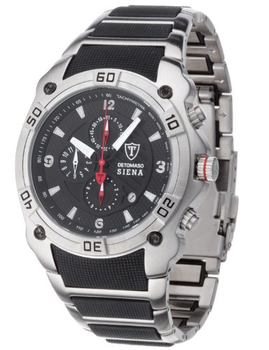Detomaso Gents Watch Siena Chronograph Black/Silver MTM8806C-BK1